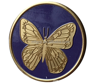 Excellent Metal Crafts Butterfly embossed commemorative coin