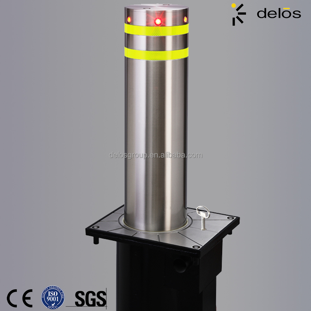 semiautomatic electric retractable bollards
