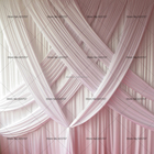 10FT H * 20FT L White Color Backdrop Curtain With 13PCS Crossed Drapes Swag For Wedding,Banquet,Hotel Use