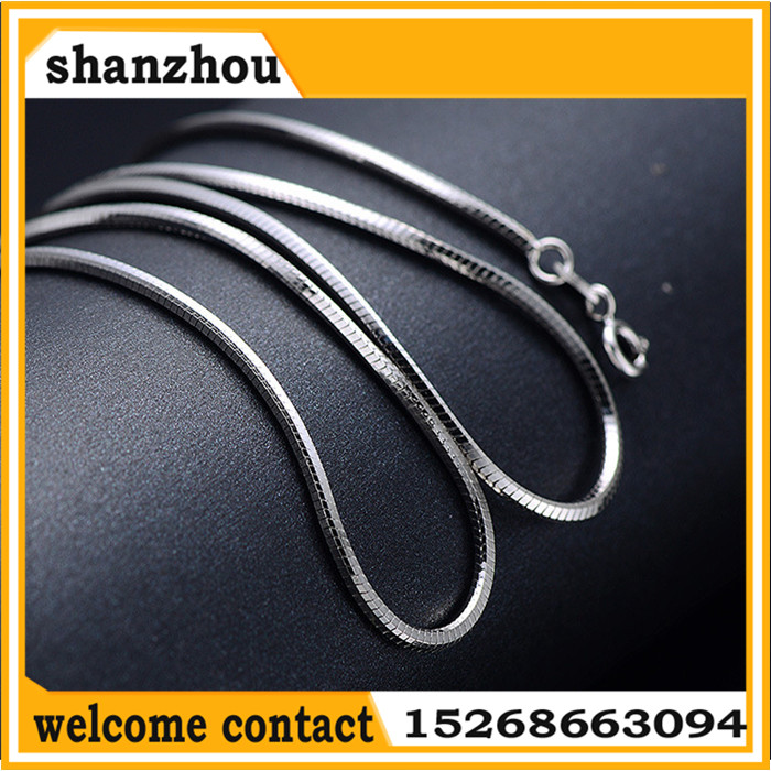 Factory Price 925 Sterling Silver Chain 925 Silver Snake Necklace Chain