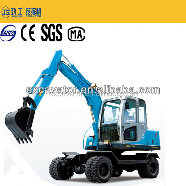 6 tons China cheap hydraulic mini wheel excavator factory sale