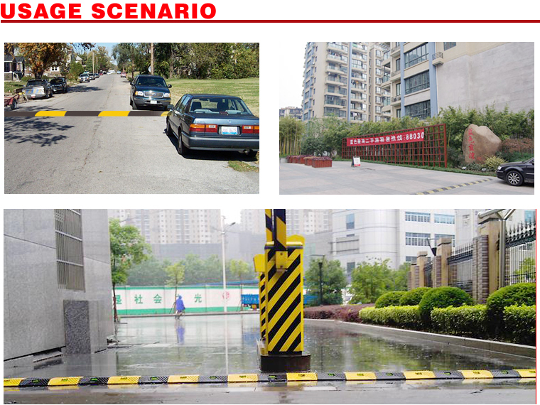 3 year warranty durable rubber speed hump protective strip deceleration strip