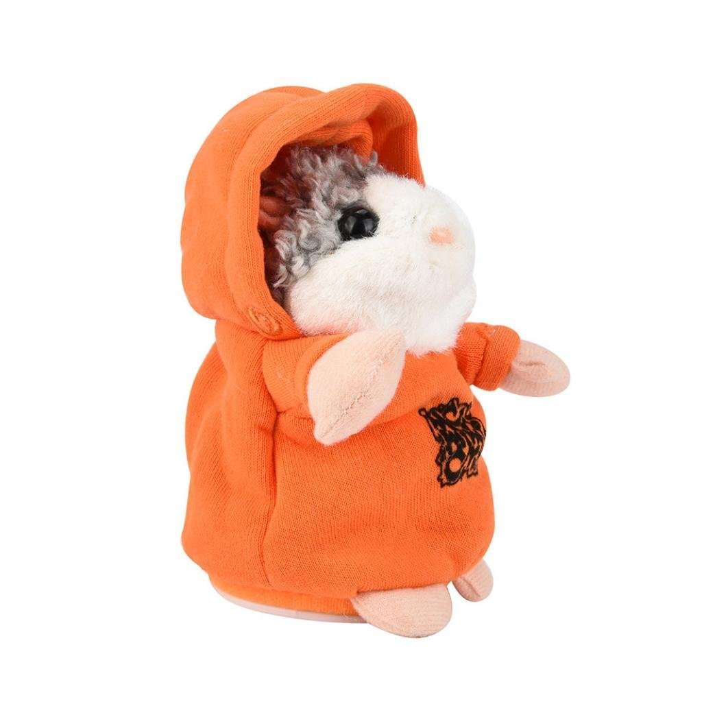 Stuffed Animal Plush Toys, Inkach Talking Hamster Repeats What You Say Plush Animal Toy with Sound for Baby Gift