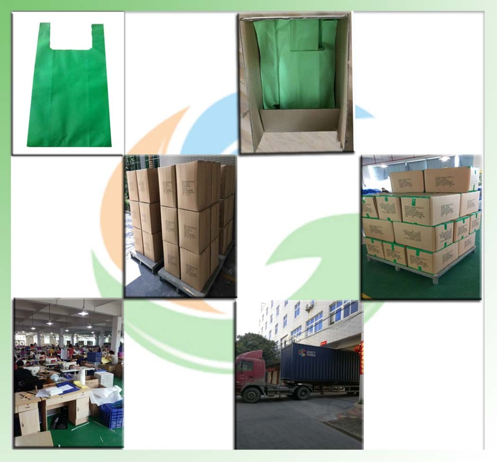 Reusable Non-Woven Polypropylene T Shirt Bags/Non Woven Shopping Bag/Compostable T-Shirt Bag
