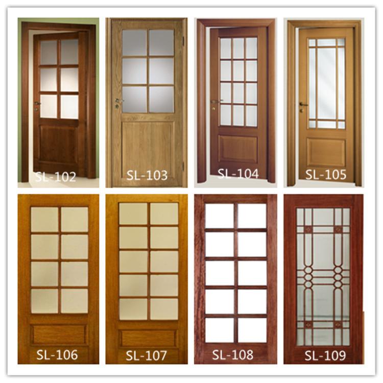 vidrio interior de madera doble puerta corredera con ventana de vidrio cocina puerta corredera