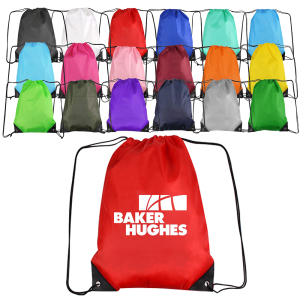 SSG Custom Logo Printed Backpack Promotional Polyester Sport Drawstring Bag