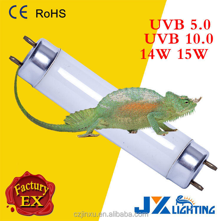 Reptile cage lighting 14w 15w uvb 5.0 10.0 fluorescent lamp T8 tube