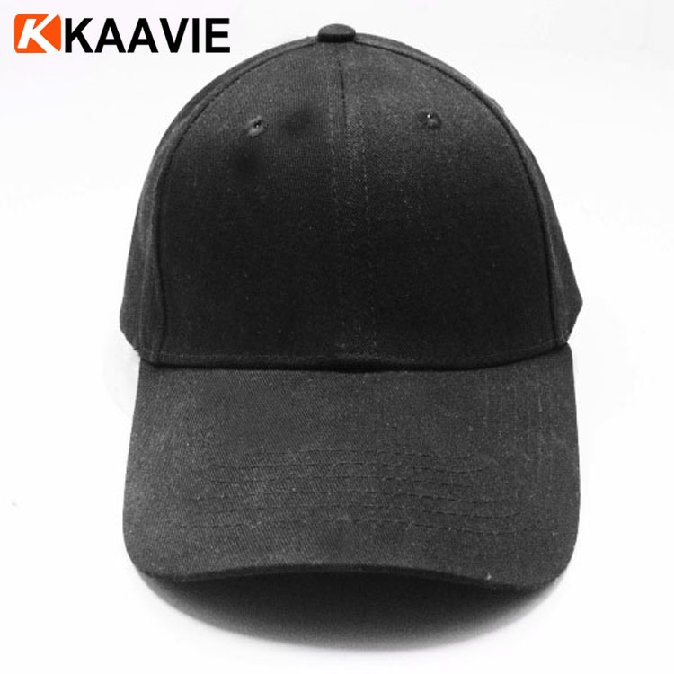 Custom new meek era blank 6 panel plain leisure black baseball dad hat and cap