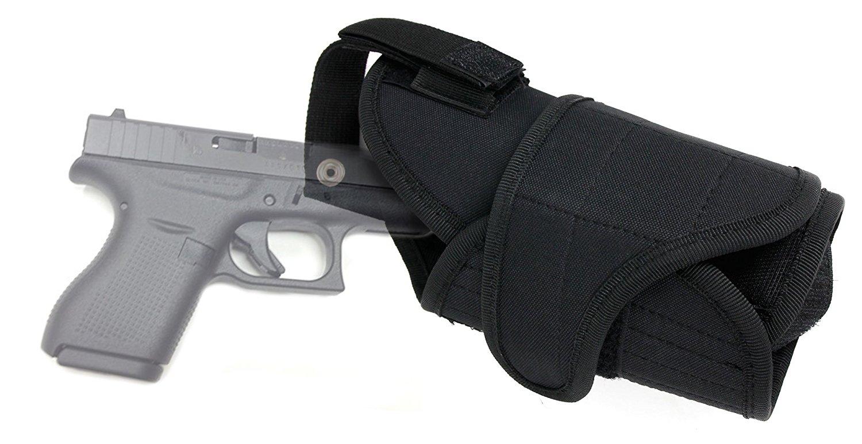 DURAGADGET Exclusive Glock 42 Gun Holster Gun Belt Holster for Glock 42 - in Black Nylon With Strong Velcro Fastening & Belt Loop