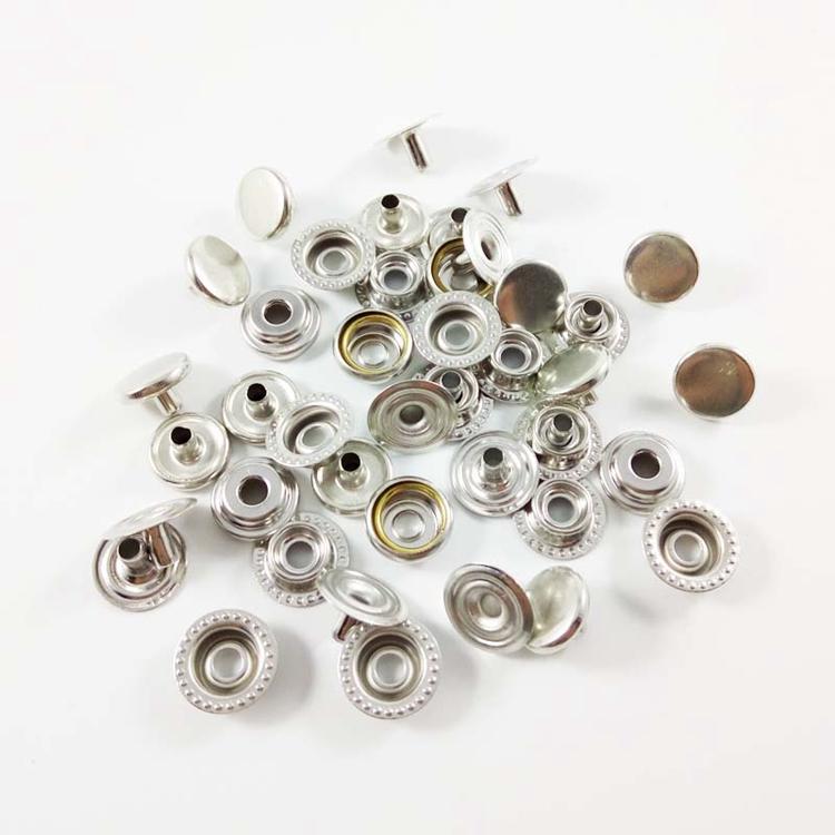 Good Reputation 10mm round metal garment four parts snap button