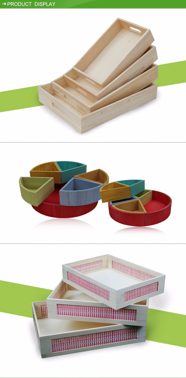 Cheap wooden serving tray manufacturer