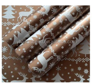 Foaming designs Gift wrapping paper in roll on art paper for decorationwith FSC, SEDEX, BSCI