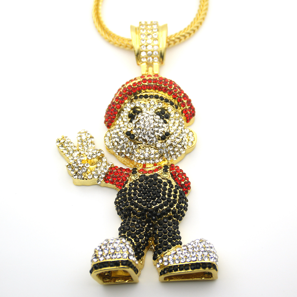 Very Large Size 36inch Cartoon Game pendant Hip hop Necklace Jewelry N621
