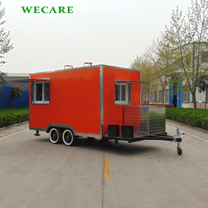 2018 Square moving food cart mobile snack cart