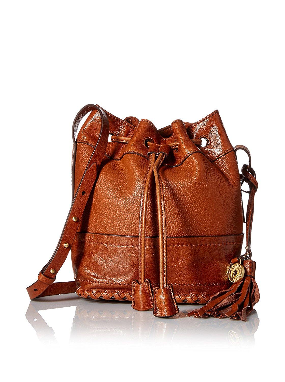 Get Quotations Isabella Fiore Dakota Leather Bucket Bag Chestnut