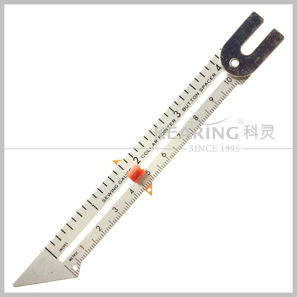 Kearing brand metal rule for sewing edges with measuring NUMBER #5006A