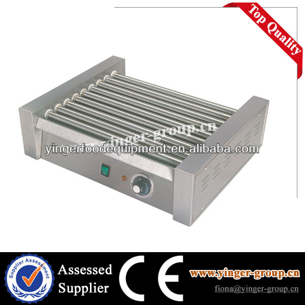Stainless Steel Electric Rolling Hot Dog Grill/sausage roller/hot dog steamer