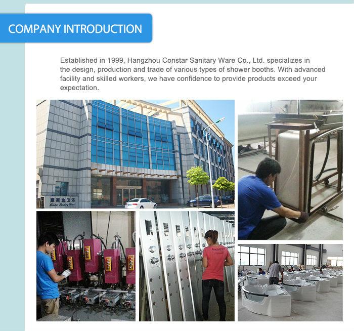 Constar Hangzhou fonksiyonel banyolar prefabrik buhar taşınabilir duş kabini ve fiyat