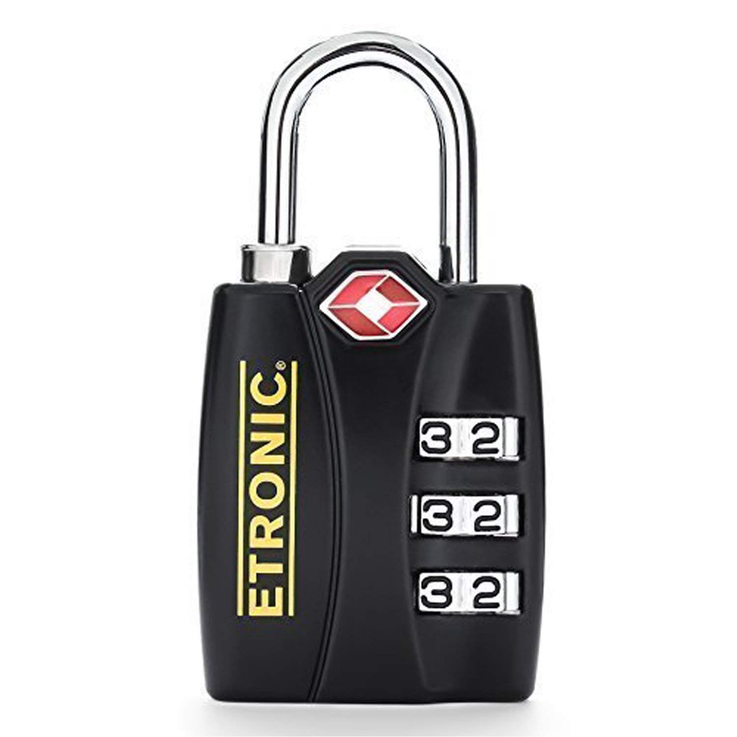 ETRONIC T6 TSA-Approved Lock TSA Open Alert Indicator Resettable Combination TSA-Accepted Luggage Lock, 1-3/16in (30mm) Wide (2 Pack)