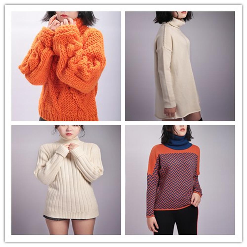 Macchina per maglieria di lana fatti a mano di inverno del maglione di disegno di modo per la ragazza