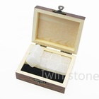 Natural Ice Whiskey Chilling Stones Premium Gifts Set Natural Whiskey Ice Stones Scotch Rocks Chilling Stones Granite Cubes For Wine In Customized Wooden Boxes