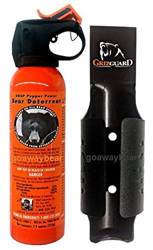 UDAP Bear Spray Safety Orange with Griz Guard Holster