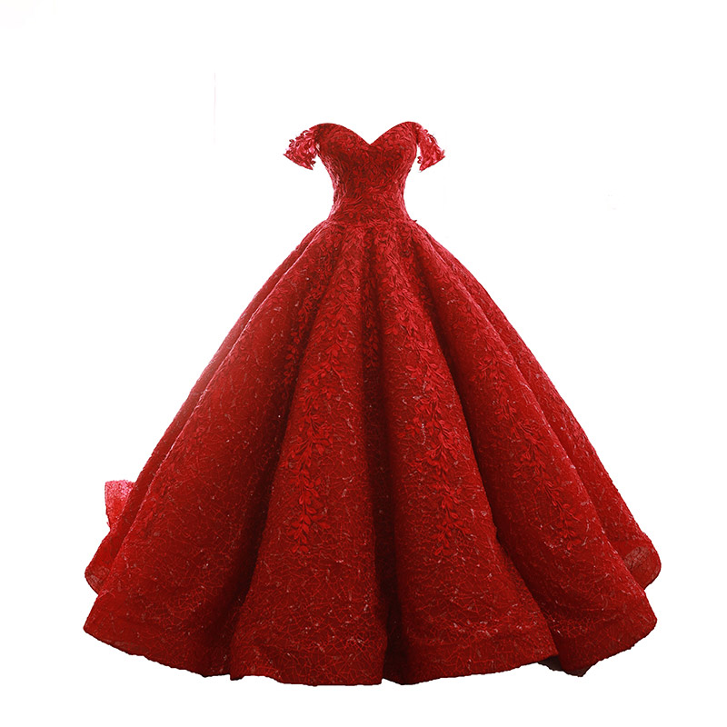 Red Prom Dress 2018 Ball Gown Vestidos De 15 Anos Birthday Bridal Party Sweet 16 Dresses Lace Floral Buy Prom Dress 2018quinceanera Dressesball