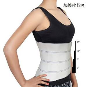 """Abdominal Binder Support Post-Operative, Post Pregnancy And Abdominal Injuries. Post-Surgical Abdominal Binder Comfort Belly Binder (Small (30"""" - 45""""), 9"""" High)"""
