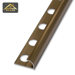 China top 10 selling building materials flexible decorative aluminum strips  metal marble tile edging trim