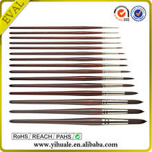 Red copper-plated artist paint brush set