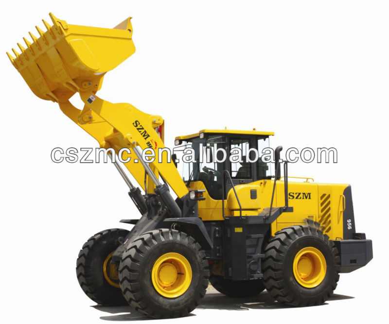earth-moving machinery new hyundai wheel loader 956 with Caterpillar engine quick hitch 4 in 1 bucket joystick export