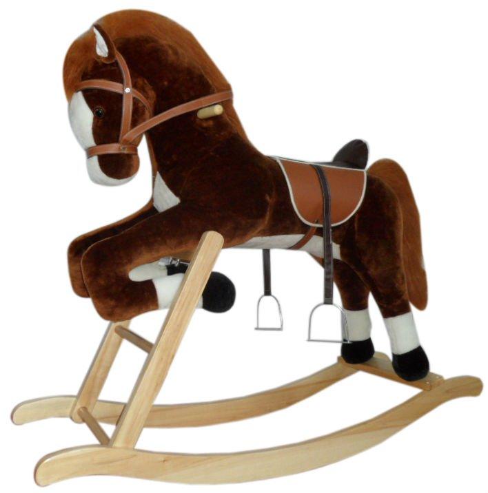 enfants en peluche grande taille cheval bascule pour les enfants de plus de 5 anos vieux. Black Bedroom Furniture Sets. Home Design Ideas