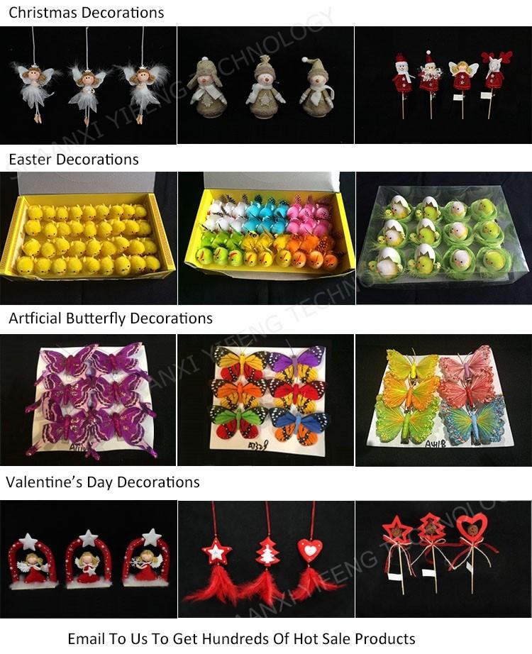 Kayu Natal Ornamen Jerami Burung Hantu Dekoratif Dengan Tongkat