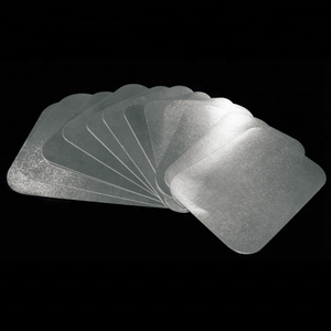 Disposable rectangular paper cardboard lid for aluminum foil containers
