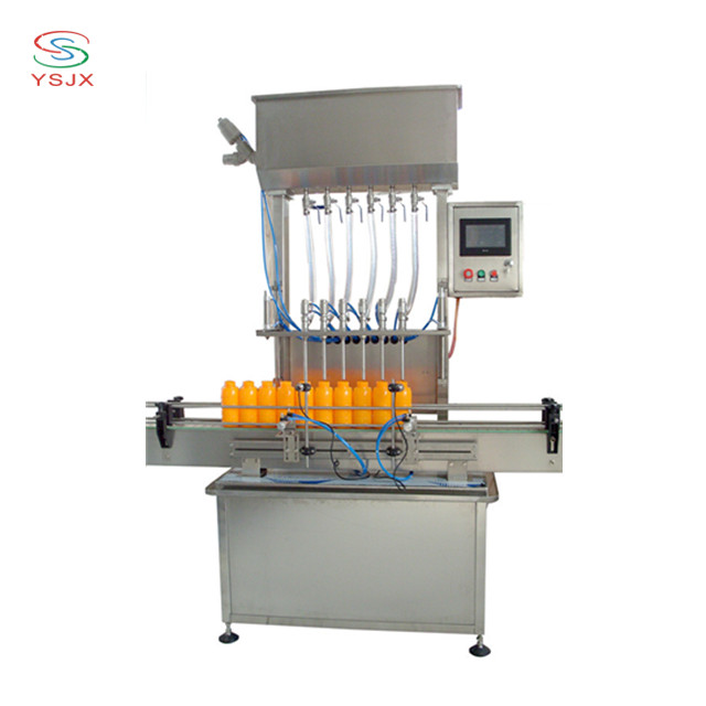 6 nozzles automatic apple juice / apple vinegar filling machine