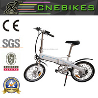 2016 New folding electric bike/Portable ebikes/mini folding bikes 350W 30km with CE approval