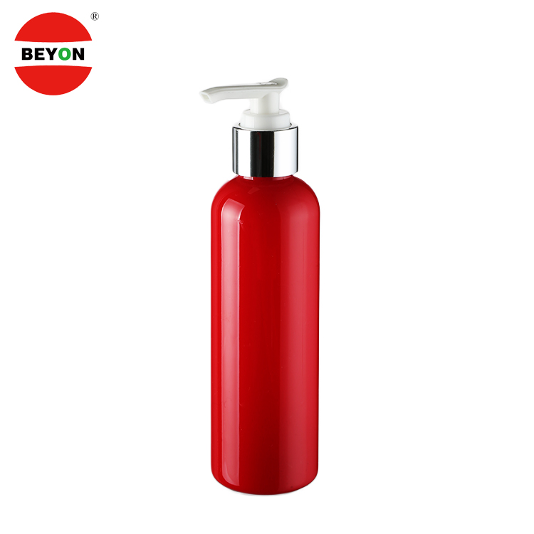 Cosmetic Foundation 250ml Cylinder Plastic Hair Oil Lotion Bottle