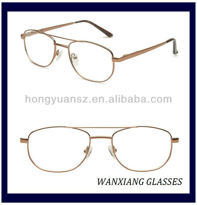 Metal Stainless Frame Old People Gles For Men Double Bridges