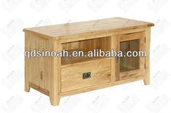 Tv Unit Solid Oak Stand Wood