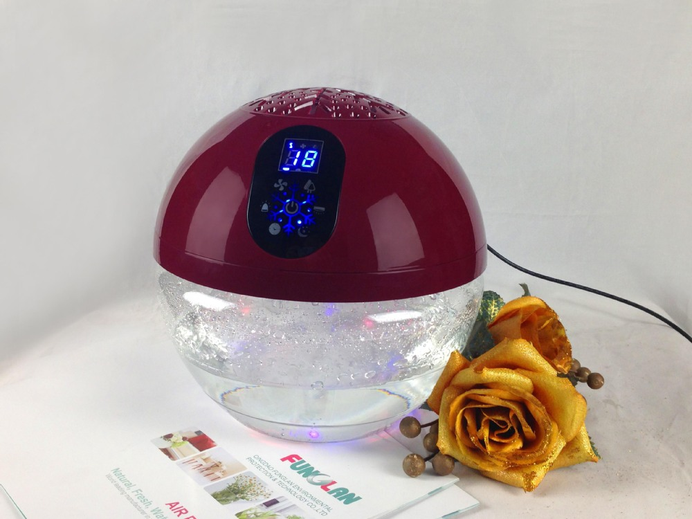 Household Office Water Air Purifier Led Light Globe Wood Freshener  Fragrance Oil Water Based Electric Air