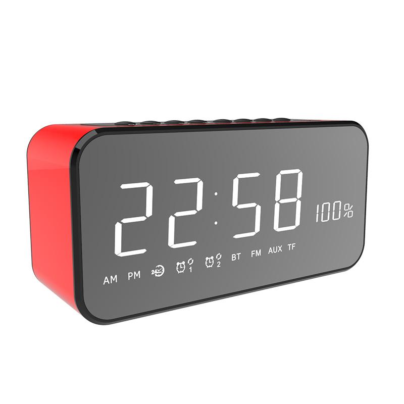 MX22 Smart Ponsel Nirkabel MP3 Pemain Dekorasi Kamar Tidur Meja Make Up Cermin Layar Besar LED Mewah Jam Alarm Digital dengan fm Radio