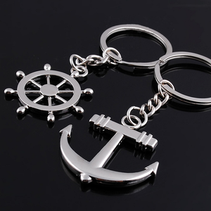 High Quality Stainless Steel Key Ring Anchor Couple Keychain