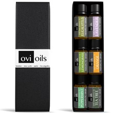 Aromatherapy Essential Oil 6 pack withLavender, Tea Tree, Eucalyptus, Lemongrass, Sweet Orange, Peppermint-826048
