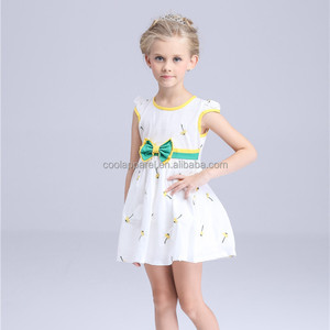 casual cotton frock printed wholesale india girl casual cotton frock children dress