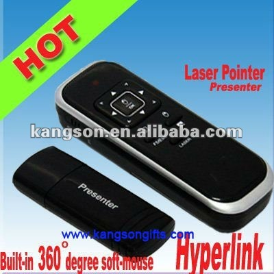 2.4GHZ wireless RC laser pointer presenter with mouse