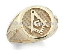Hot Sale Brass Masonic Golden Ring For Men