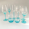 Cheap wholesale colored goblet style wine glasses
