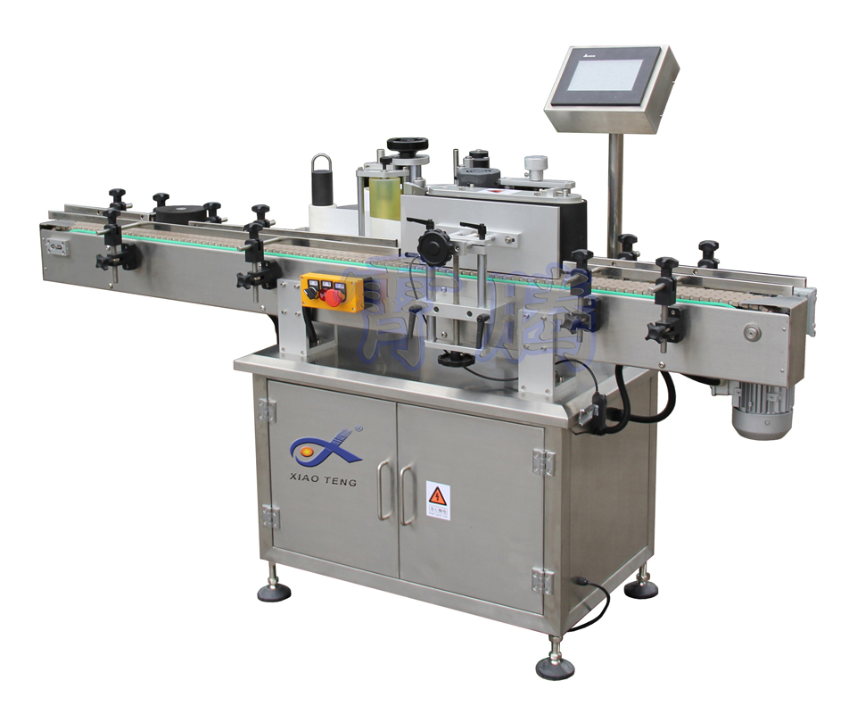 manual glass bottle labeling machine round bottles