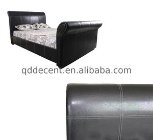 CE Certified queen size faux leather bed From China supplier