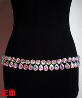 decorative metal chain belt crony crystal waist chain belly dance belt wholesale